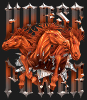 HORSEPOWER : High Definition Automotive Vinyl Graphics Horse Decals (M-HOP-10)
