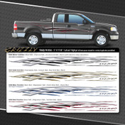 GRIZZLY : Automotive Vinyl Graphics Shown on Ford F-150, Mustang, and Dodge Nitro (M-09240)