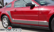 Ford Mustang : Solid J-Stripes Vinyl Decals fits 2005-2009