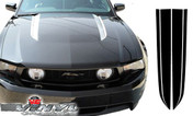 Ford Mustang : Solid Hood Spear Stripes with Void Decals fits 2010-2012