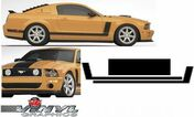 Ford Mustang : Solid Hood Accent Stripes Vinyl Graphic Decals fits 2005-2009