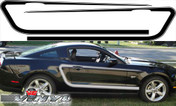 Ford Mustang : Side C Stripes Vinyl Graphic Stripes fits 2010-2012