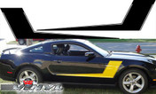 Ford Mustang : Solid Hockey Stripes Vinyl Decals fits 2010-2012