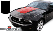 Ford Mustang : Hood Blackout Vinyl Graphic Decal Stripe Kit fits 2010-2012