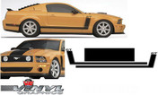 Ford Mustang : GT Hockey Stripes With Parnelli Jones Style Hood Stripe fits 2005-2009