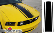 Ford Mustang : Center Hood Stripe Kit fits 2005-2009