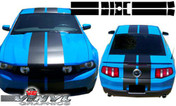 Ford Mustang : 7 Piece 10 Inch Rally Vinyl Graphic Racing Stripe Kit fits 2010-2012