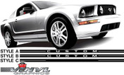 Ford Mustang : Factory Replica Rocker Vinyl Stripes Kits fits 2005-2009