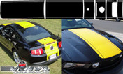Ford Mustang : 6 Piece 22 Inch Rally Stripes Kit fits 2010-2012