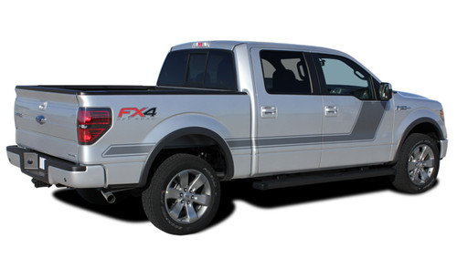 """2009-2014 Ford F-150 """"Appearance Package Style"""" Hockey Stick Side Vinyl Graphics and Decals Kit! Ready to install for your F-150 Ford Truck for 2009 2010 2011 2012 2013 2014 and 2015 2016 2017 Models. Professional """"OEM Style"""" and Design! For Automotive Restylers and Dealers!"""
