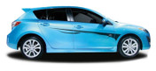 EXXEL : Automotive Vinyl Graphics and Decals Kit - Shown on FOUR DOOR HATCHBACK (M-853)