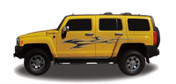 ELUDER : Automotive Vinyl Graphics and Decals Kit - Shown on HUMMER SUV (M-1216)