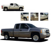 FLEX : Side Door to Fender Vinyl Graphics Decal Stripe Kit for 2000-2018 Chevy Silverado or GMC Sierra (M-PDS-1284)