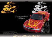DUELING HOOD FLAMES : High Definition Automotive Vinyl Graphics (M-DHF80MD)