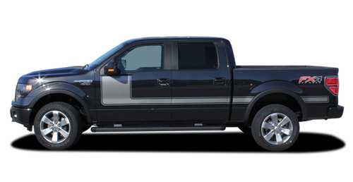 "Ford F-150 Hockey Stick ""Appearance Package Style"" Side Vinyl Graphics and Decals Kit! Ready to install for your F-150 Ford Truck for 2009 2010 2011 2012 2013 2014 and 2015 2016 2017 2018 Models. Professional ""OEM Style"" and Design! For Automotive Restylers and Dealers!"