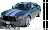 Dodge Charger : 10 Piece Rally Racing Stripe Kit with Pinstripes fits 2006-2010 Models