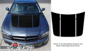 Dodge Charger : 3 Piece Hood Graphic Decal Stripe Kit fits 2006-2010