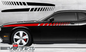 Dodge Challenger : Strobe Fader Upper Side Stripes fits 2008-2013 Models