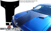 Dodge Challenger : Solid T-Hood Graphic with Pinstripes fits 2008-2013 Models