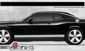 Dodge Challenger : Solid Rocker Panel Stripes fits 2008-2013 Models (SVS313D)