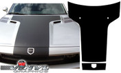 Dodge Challenger : Black Carbon Fiber Solid T Hood Graphic fits 2008-2013 Models
