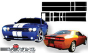 Dodge Challenger : Rally Stripe Kit fits 2008-2013 Models (SVS323D)