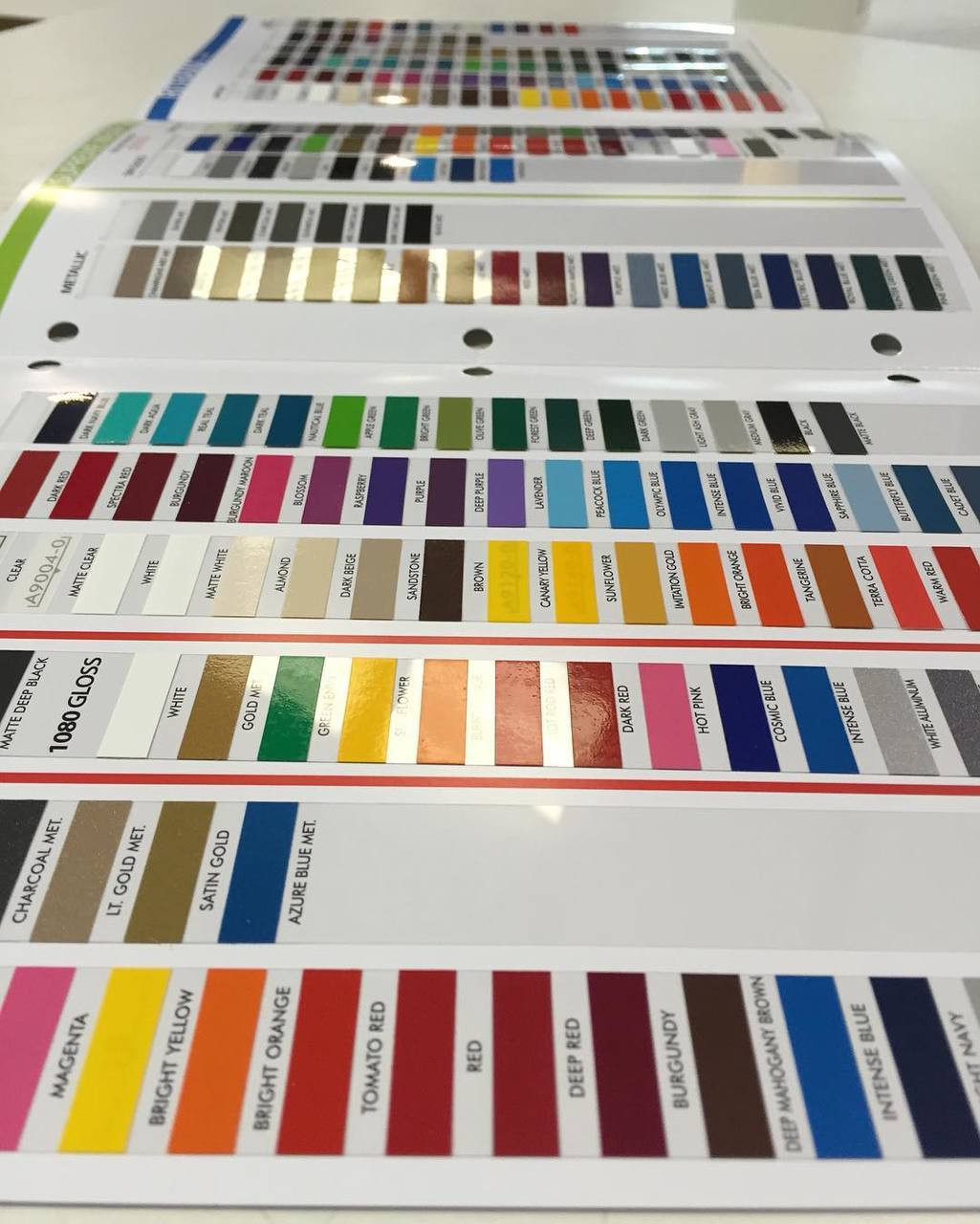 Color Chart All 3m And Avery Vinyl Color Samples Moproauto