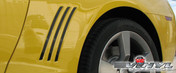 Chevy Camaro : Rear Quarter Panel Side Vent Gill Inserts fits 2010-2013 (SVS310C)