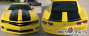 Chevy Camaro : Extended Length Bumblebee Style Rally Stripes with Factory Spoiler fits 2010-2013 (SVS301C) (M-SVS301C)