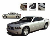 CHARGIN 1 : Vinyl Graphics Kit for 2006 - 2010 Dodge Charger - Factory OEM Style Dodge Charger 2006 - 2010 Vinyl Graphics, Stripes and Decal Kit! Hood, Panel and Deck Lid Graphics. Pre-cut pieces ready to install, using only Premium Cast 3M, Avery, or Ritrama Vinyl!