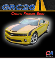 2010-2013 Chevy Camaro Solid Hood and Decklid Stripes : Vinyl Graphics Kit (M-GRC26)
