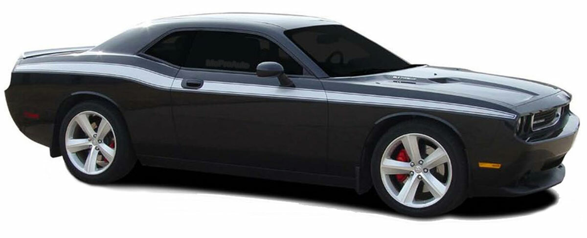 Dodge Challenger Stripes Classic Track Body Vinyl Graphic Upper