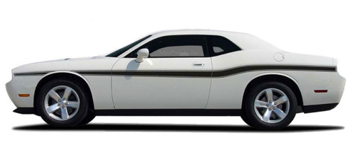 Challenger BELTLINE : Vinyl Graphics Kit for 2008 2009 2010 2011 2012 2013 2014 2015 2016 2017 2018 2019 Dodge Challenger -  2008-2016 Dodge Challenger Beltline Style Vinyl Graphics, Decal and Stripe Package! Pre-cut pieces ready to install . . . A fantastic addition, using only Premium Cast 3M, Avery, or Ritrama Vinyl!