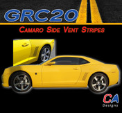 2010-2015 Camaro Vent Blackout Stripes : Vinyl Graphics Kit (M-GRC20)