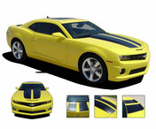 "Camaro R-SPORT : 2010 2011 2012 2013 Chevy Camaro Exact Factory Replica ""OEM Style"" Rally Racing Stripes!  Camaro R-SPORT : 2010 2011 2012 2013 Chevy Camaro Exact Factory Replica ""OEM Style"" Hood Trunk Vinyl Decal Rally Racing Stripes Kit PDS1478.2 (M-PDS-1478-2)"