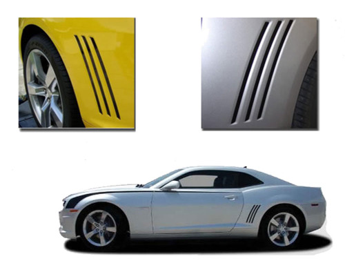 Camaro GILL STRIPES : 2010 2011 2012 2013 Camaro Side Decals Set - Chevy Camaro Gill Stripes! Engineered specifically for the new Camaro, this kit will give you a factory OEM upgrade look at a discount price! Pre-cut pieces ready to install!