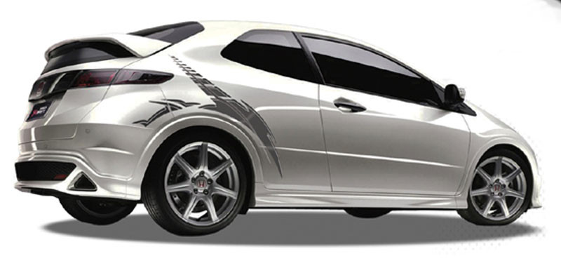 c62ed58127 BLADE   Automotive Vinyl Graphics and Decals Kit - Shown on HONDA CIVIC  Revolutionary Automotive Vinyl Graphics Packages by Illusions GFX! Many  colors ...