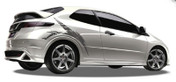BLADE : Automotive Vinyl Graphics and Decals Kit - Shown on HONDA CIVIC Revolutionary Automotive Vinyl Graphics Packages by Illusions/GFX! Many colors, sizes and styles to choose from for cars, trucks, boats, trailers and more. Shown here on a Honda Civic . . .