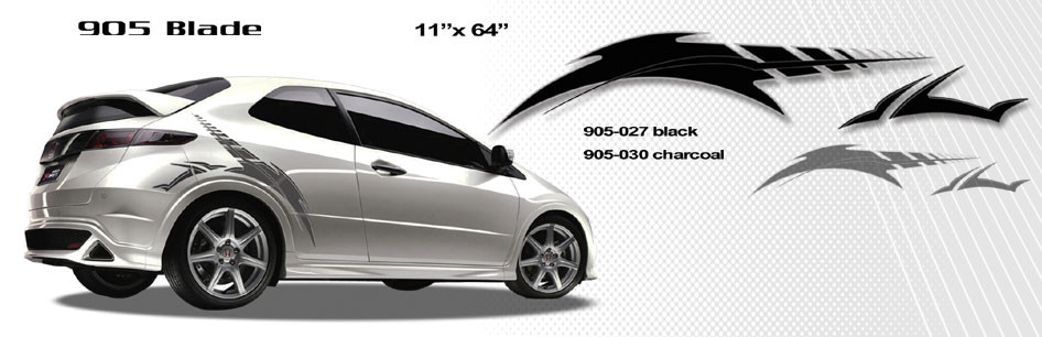 3d4e6f652d ... BLADE   Automotive Vinyl Graphics and Decals Kit - Shown on HONDA CIVIC  Revolutionary Automotive Vinyl ...