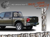 Avalanche Wild Wood Camouflage : Bed Side Rally with Deer Skull 12 inches x 42 inches Amazing style featuring Wild Wood Camo with a deer skull embed. This bed side vinyl graphic is available in 4 different camo color styles! Includes driver and passenger sides, size 12 inches by 42 inches each.