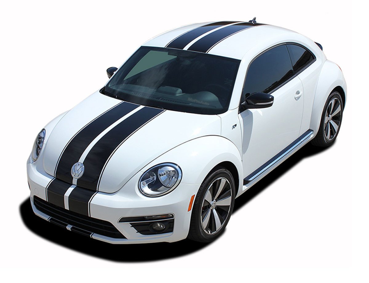 Beetle rally volkswagen beetle racing stripes bumper to bumper rally decals vinyl graphics kit fits 2012 2019
