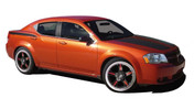 AVENGED : Vinyl Graphics Kit for 2008 2009 2010 2011 2012 2013 2014 Dodge Avenger - Factory OEM Style 2008-2014 Dodge Avenger Vinyl Graphics and Stripes Package! Hood, Back Panels, Deck Lid Graphics Included . . . Pre-cut and ready to install!