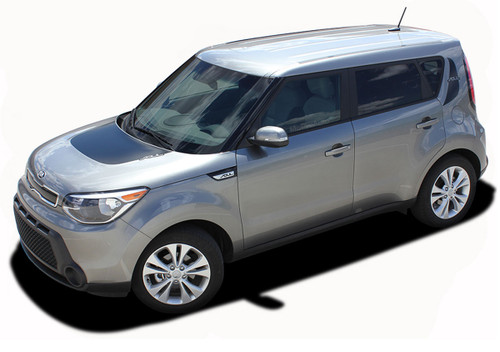 SOUL PATCH 2 : Vinyl Graphics Kit Engineered to fit the 2014 2015 2016 2017 2018 Kia Soul - Vinyl Graphics Kit, specially engineered to fit the 2014 - 2015 KIA Soul! Hood graphic and rear panel graphics, it's the look you've been wanting for the Kia Soul!