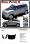 SOUL PATCH 2 : Vinyl Graphics Kit Engineered to fit the 2014 2015 2016 2017 2018 Kia Soul - Vinyl Graphics Kit, specially engineered to fit the 2014 - 2015 KIA Soul! Hood graphic and rear panel graphics, it's the look you've been wanting for the Kia Soul! - Details