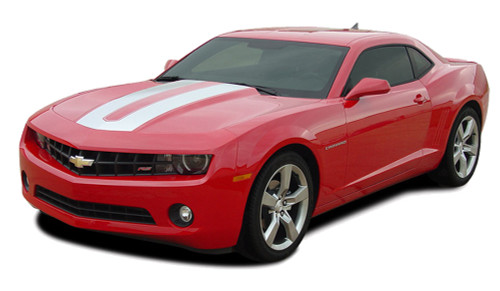 "2014 2015 Chevy Camaro ENERGY 2 ""SEMA"" Style Hood and Trunk Stripe Kit! Engineered specifically for the new Camaro, this kit will give you a factory OEM upgrade look at a discount price! Pre-Cut pieces ready to install! For V6 LS, LT Models . . ."