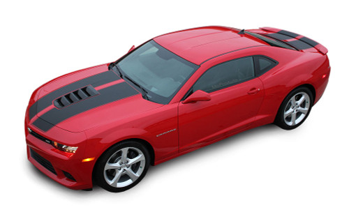 2014 - 2015 Chevy Camaro S-SPORT Factory Racing Stripe Vinyl Graphics Decal Kit! Engineered specifically for the new Camaro, this kit will give you a factory OEM upgrade look at a discount price! Pre-Cut pieces ready to install! Vinyl fits SS Models Only . . .