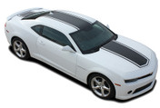 2014 2015 Chevy Camaro CENTER BEE Racing Stripes Vinyl Graphics Kit! Engineered specifically for the new Camaro, this kit will give you an OEM look without the factory price! Hood, Roof, Deck Lid Sections Included! This is a professionally designed kit, with pre-trimmed pieces ready to install!