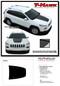 T-HAWK : 2013, 2014, 2015, 2016, 2017, 2018, 2019, 2020 Jeep Cherokee Hood Vinyl Graphics Decal Stripe Kit - Details
