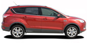 Ford Escape RUNAROUND Vinyl Graphics Kit! Engineered specifically for the new 2013 2014 2015 2016 2017 2018 2019 Ford Escape, this kit will give you a factory OEM upgrade look at a discount price! Pre-trimmed sections ready to install! Fits Ford Escape Body Lines . . .