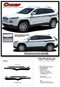 2013, 2014, 2015, 2016, 2017, 2018, 2019, 2020, 2021 Jeep Cherokee Upper Body Line Vinyl Graphics Decal Stripe Kit - Details